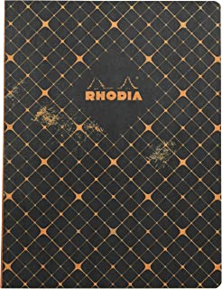 Rhodia Heritage Raw Bind Notebook Heritage Raw Bind Notebook, Quadrille Black, 1 (CR-117434C)