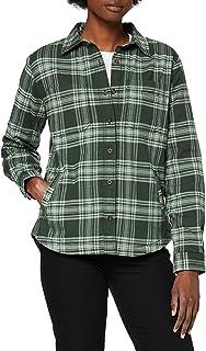 Carhartt Women's Hamilton Plaid Flannel Shirt Jac Jacket, Fog Green, XS