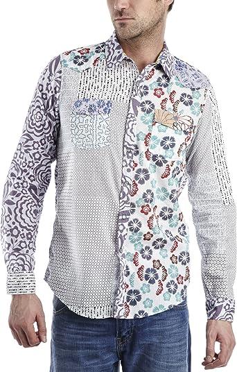 Desigual Caribeña Mens camiseta: Amazon.es - Hombre