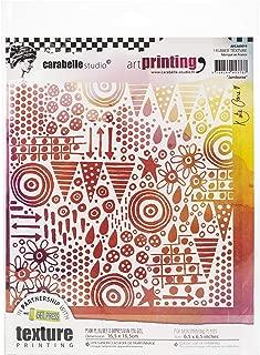 Carabelle Studio Art Printing Rubber Texture Square Stamp, Jamboree, for Gel Monoprint Plates