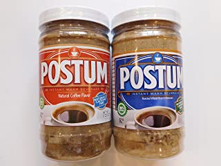 Postum Instant Warm Beverage Original And Coffee Flavor 8 ounces by Remember Postum
