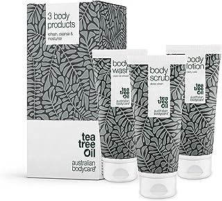 Australian Bodycare 3 produkter för finnar, oren hud och pormaskar på ryggen och rumpan | Tea Tree Oil som motverkar finna...
