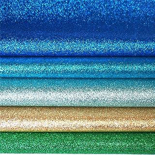 YXJD Glitzer Stoff 20pcs Bastelstoff Leinwände Segeltuch Kunstleder Stoff 20 Farben 22 x 33cm für Handwerk DIY Schmuck Schuh Deko Ohrringe Haarspangen