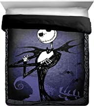 Disney Nightmare Before Christmas Misfit Love Full/Queen Comforter - Super Soft Kids Reversible Bedding features Jack Skellington - Fade Resistant Polyester Microfiber Fill (Official Disney Product)