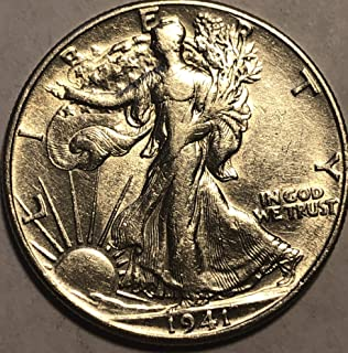 1941 D Silver Walking Liberty WWII Era Coin Half Dollar Extremely Fine