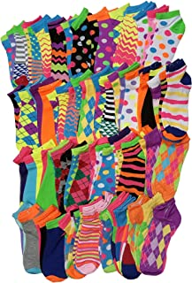 96 Pairs / 8 dozens Wholesale Lots Low Cut Neon Bright Colorful Ankle Socks