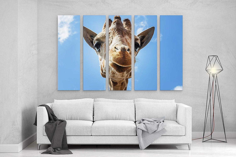 Milwaukee Mall Giraffe Photo Print Sales Stretched Cotton Decor Wall Canvas Art Nurs