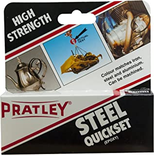 Metal Glue - 2 Part Epoxy Adhesive - Machinable Hole Filler and Pipe Repair Kit For Aluminum, Steel and More by Pratley