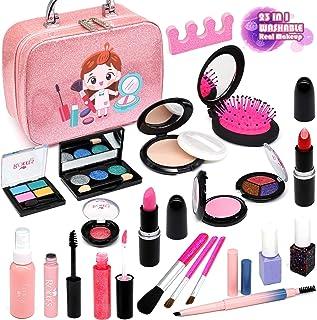 Enjoybot Girls Makeup kit Toy Kids - 2021 Newest 23PCS Kids Makeup Kit for Girls ,Real Kids Makeup Toys , Washable Dress u...