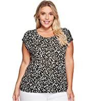 MICHAEL Michael Kors - Plus Size Camo Eliptical Hem Top