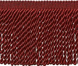 5 Yard Value Pack - 6 Inch Long Cherry RED Bullion Fringe Trim, BFS6 Color: E13 (15 Ft / 4.5 Meters)