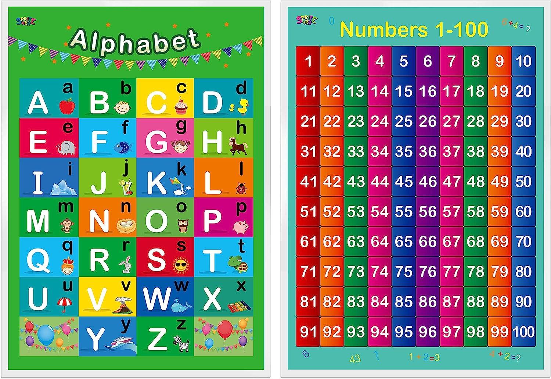 SpriteGru Alphabet, Zahlen 200 20000,20 Laminierte Pädagogische Plakate ...
