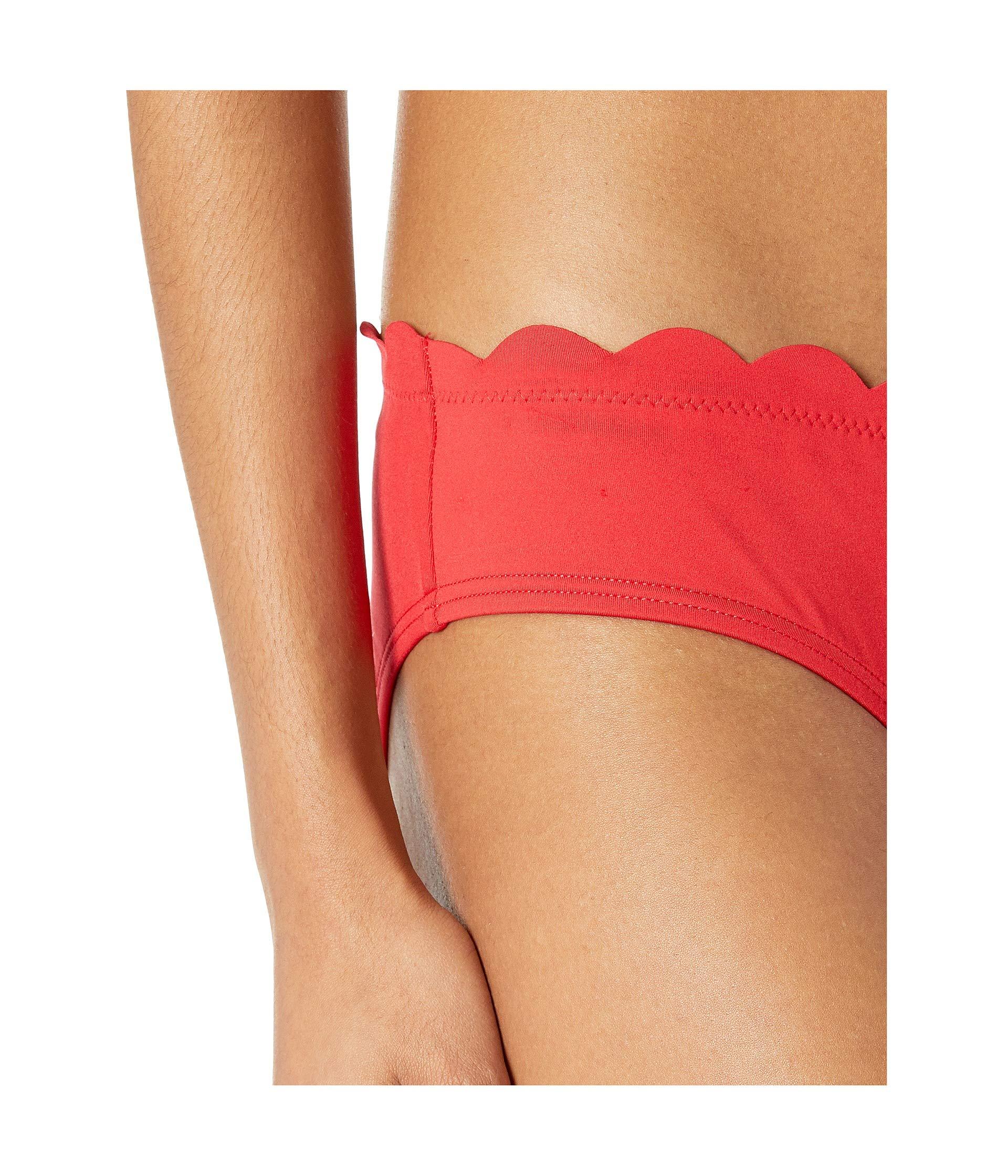 Soft Cups Kate York Rosa Triangle Red Removable Core Solids Bikini Top Spade Scalloped W 79 New BBHp7O