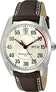 Ferrari Men's 0830175 D 50 Analog Display Quartz Brown Watch