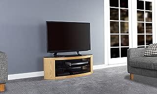 AVF Affinity Plus - Buckingham Plus 1100 Oval TV Stand (Oak/Black Glass)