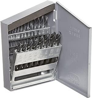 Chicago Latrobe 159 Series High-Speed Steel Short Length Drill Bit Set In Metal Case, Black Oxide Finish, 135 Degree Split Point, Inch, 21-piece, 1/16