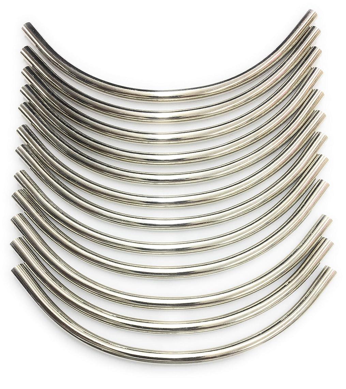 12 Silver Tube Spacer - Silver Tubing,Jewelry, Handbag Making 1/4'' x 6.3/4'''(1/2 x17 cm)