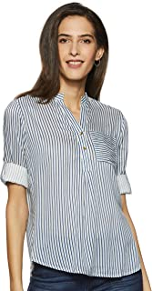 Styleville.in Women's Striped Regular Fit Top