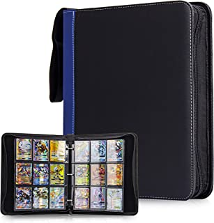 CLOVERCAT 9 Pocket Trading Card Binder, Trading Album Display Holder, Storage Book with 3 Rings, Expandable,720 Double Sid...
