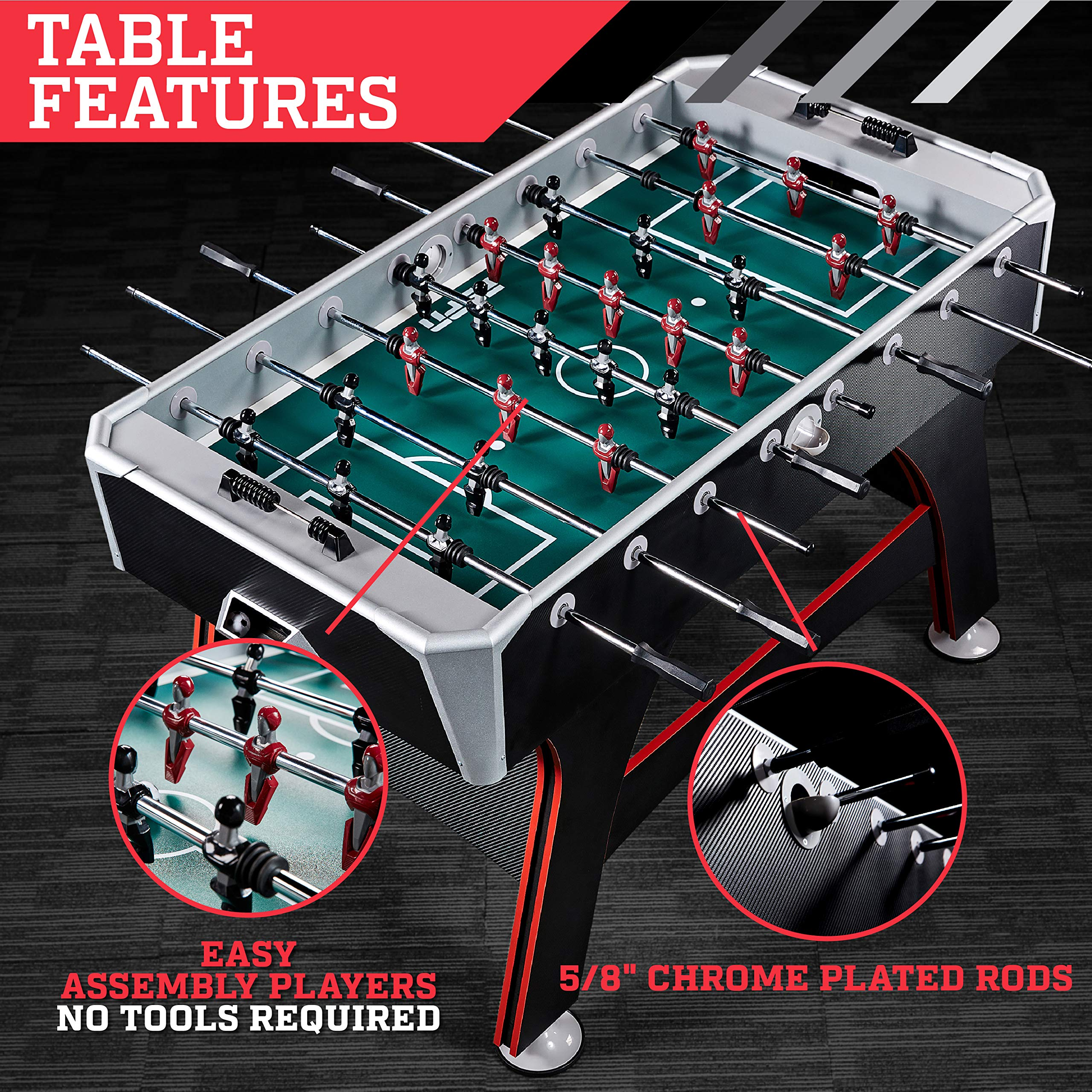 ESPN 56″ Arcade Foosball Table