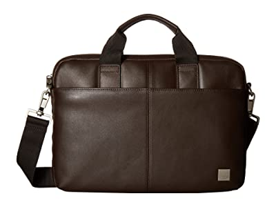 KNOMO London Brompton Classic Stanford Slim Brief (Brown) Briefcase Bags