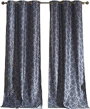 Duck River Floral Blackout Curtain, 54x84 (2 Pieces), Slate Blue