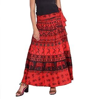 Kastiel Printed Women's Regular Red Skirt