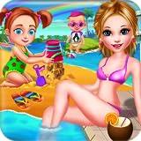 Estate Spiaggia Vacanze estive in Famiglia Ferie - Divertente gioco divertente per bambini e genitori per giocare!