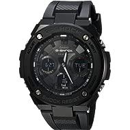 Casio Men's G Shock Stainless Steel Quartz Watch with Resin Strap, Black, 27 (Model: GST-S100G-1BCR)