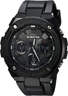 Men's G Shock Stainless Steel Quartz Watch with Resin Strap, Black, 27 (Model: GST-S100G-1BCR)