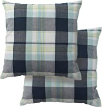 DII 100% Cotton Lake Plaid Pillow Cover, Set of 2