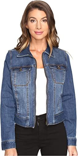 Denim Zip Jacket in Vintage Super Comfort Stretch Denim