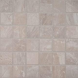 MS International AMZ-M-00232 Onyx Grigio 2X2 Mosaic Tile, 12in x 12in, Gray