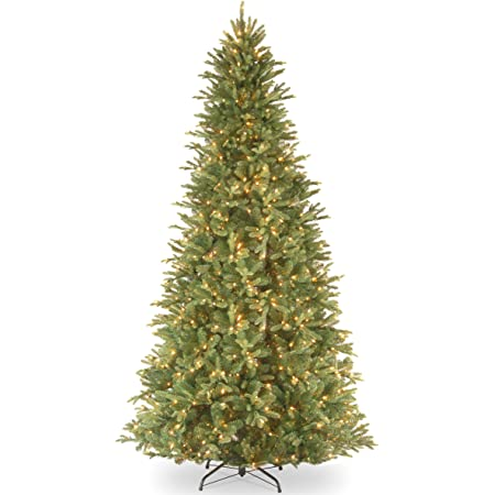 Amazon Com National Tree Company Feel Real Pre Lit Artificial Christmas Tree Includes Pre Strung White Lights And Stand Tiffany Fir Slim 12 Ft Home Kitchen