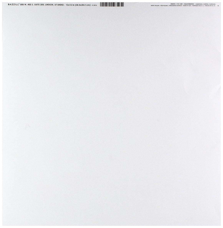 Bazzill Basics Paper 25 12 x 12 Inch White 29 lb Bazzill Basics Vellum Sheets, Piece