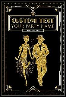 Custom 1920s Gatsby Art Deco 50th 70th Birthday Poster Banner