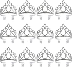 12 Pack Princess Crowns and Tiaras for Little Girls, Dress Up Accessories, Kids Costume Birthday Party Favors, Bulk Headbands, Ages 3 to 6