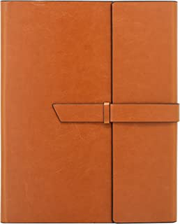 Gallaway Leather Padfolio Portfolio Folder - fits Letter, Legal, A4 Notebooks and Notepads (Brown)