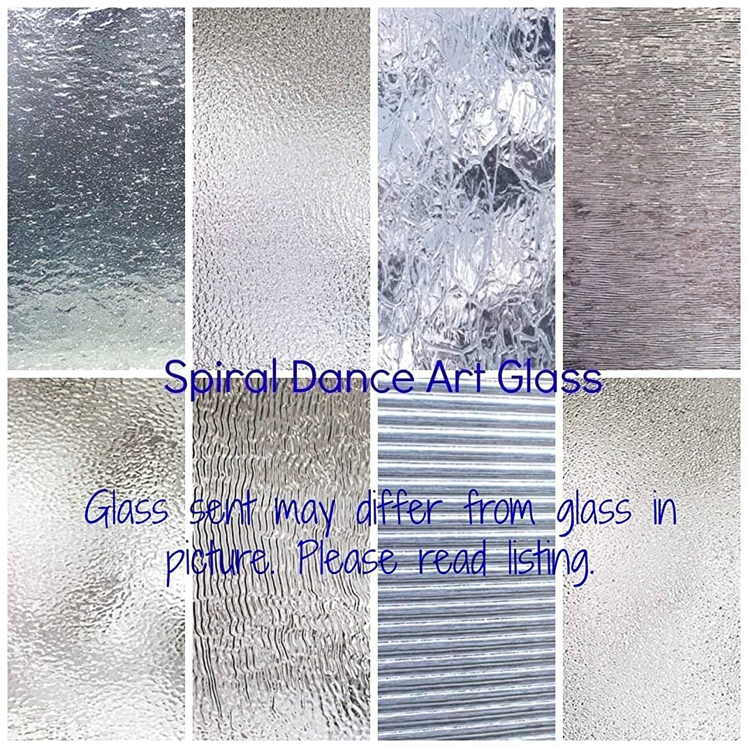 CLEAR TEXTURED Glass Variety (6