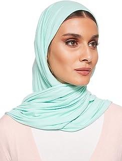SHADOW Jersey Stretch Shailah Hijab Muslim Islamic Arab Scarf Headscarf Abaya Shawl Scarves Soft, One Size - 65 x 165 cm
