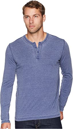 Sueded Burnout Henley Shirt