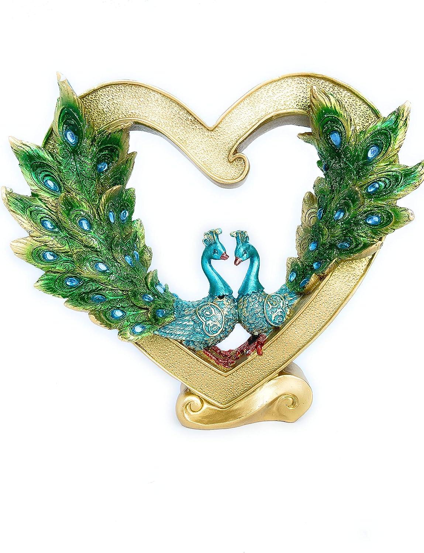 Ranking Max 76% OFF TOP17 Creative Resin Heart Peacock Statue Office Home Deskto Sculpture