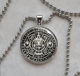 Aztec Calendar Pendant Necklace