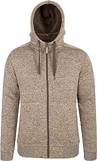 Mountain Warehouse Nevis Mens Fur Lined Hoodie - Soft Fleece Sweatshirt, Warm, Comfortable, Adjustable Hood & Front Pocket...