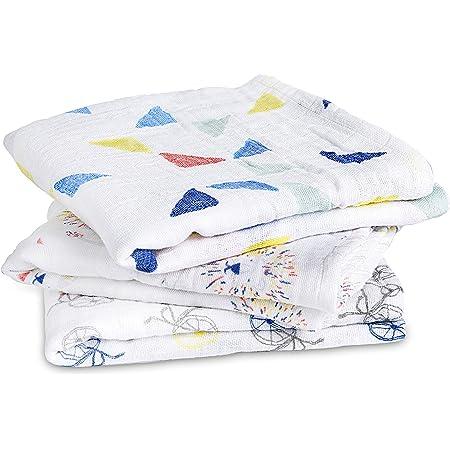 pack de 4 Colour Pop 100/% mousseline de coton 120cm x 120cm Aden anais maxi-langes