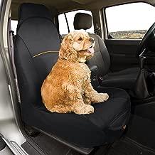 Kurgo Bucket Seat Covers for Dogs | Dog Front Seat Cover | Pet Seat Protector | Car Seat Cover for Pets | Copilot & Shorty | Full & Half Coverage | Waterproof Seat Cover| Black & Hampton Sand / Khaki