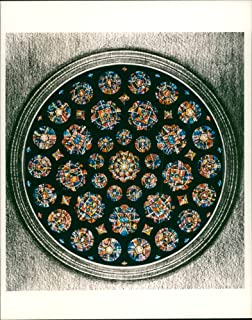 Vintage photo of Rose window for St Albans Cathedral