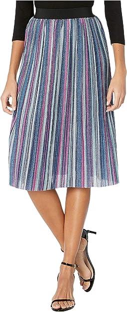 Pink/Blue Metallic Stripe