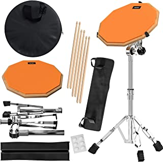 Practice Pad & Snare Stand Bundle - Drum Pad Double Sided...