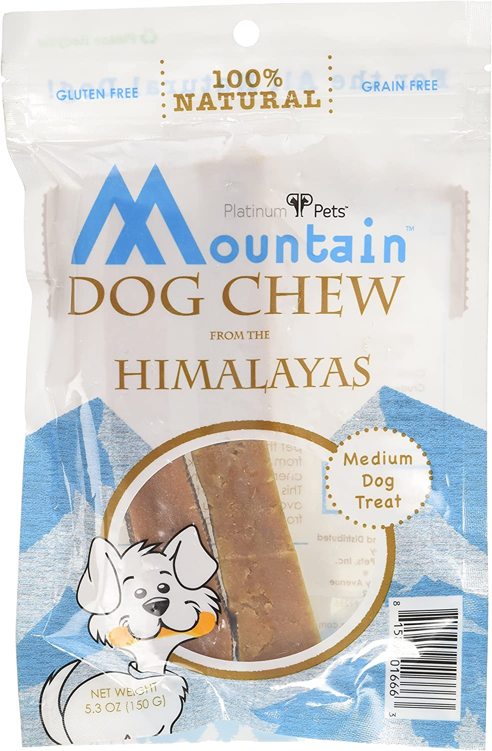 Platinum Pets Mountain Dog Chew from the Himalayas 150 Grams (5.3Ounce)